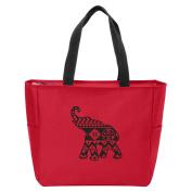 Aztec Elephant Monogrammed Tote