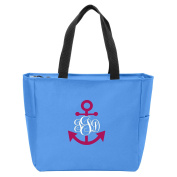 Anchor Monogrammed Tote