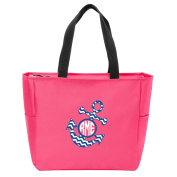 Anchor Chevron Monogrammed Tote