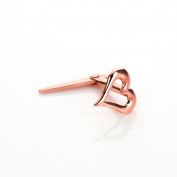 9ct Rose Gold Andralok Heart Nose Stud 18Ga