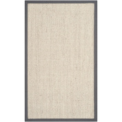 Safavieh Natural Fibre Collection NF441B Hand Woven Marble and Grey Sisal Area Rug