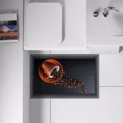 3D ground (coffee) bathroom, non slip, living room / hallway / kitchen / dining room / toilet / self-adhesive HD 58*90cm