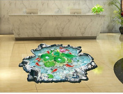 QTT Wall lotus ponds bathroom living room of the bedrooms are decorated to a wall