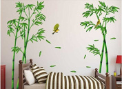 QTT Golden silky Bird wall sofa tv adhering the background character Live bamboo in the wall