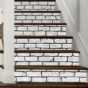 HHY- Minimalist creative 3D white brick-staircase posted