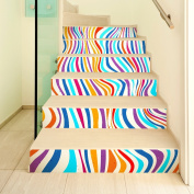 HHY- Minimalist creative 3D colour banding staircase posted