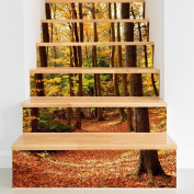 HHY-Minimalist creative 3D forest waterproof staircase posted