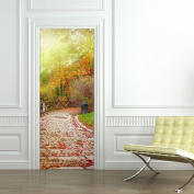 HHY-Deciduous stone-bedroom living room decorated in a self-adhesive watertight door decal