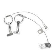 Mizugiwa Bimini Top Release Pin w/ Drop Cam & Spring 0.6cm x 2.5cm Grip - Lanyard Prevents Loss pack of 2