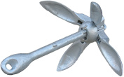 OceanMotion foldable 1.6kg galvanised anchor for Kayaks, Canoes, Dinghy's and PWC