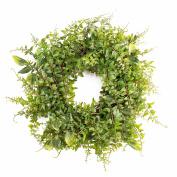"""Artificial Wreath FRIEDRICH with spleenwort, green, Ø 12"""" / 30 cm - Silk wreath / Decorative wreath - artplants"""