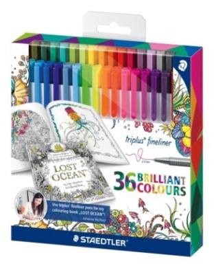 Staedtler Tripura Fine liner fine-point pen pen 0.3mm 36 colours set _ bus Ford version_ 334 C36JB