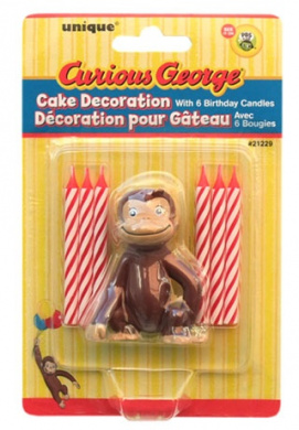 Curious George (Curious George) birthday figure & candles