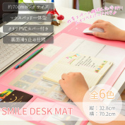 Accessory smile storing rearranging PR-GD-SMILEMAT which desk mat mouse mat mouse pad office desk Lady's clear documents have a cute