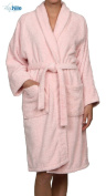 Hotel & Spa Pink Robe, Plush Terry Weave, 100% Premium Long-Staple Combed Cotton, Unisex Bathrobe for Women and Men, Extra Large Size