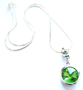Liberty Charms 'August Birthstone' Sterling Silver Necklace with Silver Plated 18mm Pendant