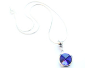 Liberty Charms 'September Birthstone' Sterling Silver Necklace with Silver Plated 18mm Pendant