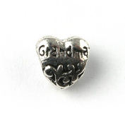 Liberty Charms Silver Plated Grandma Heart Charm Will Fit Most Charm Bracelets