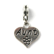 Liberty Charms Silver Plated Aunt Drop Charm Will Fit Most Charm Bracelets