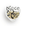 Liberty Charms Silver Plated Niece Heart Charm Will Fit Most Charm Bracelets