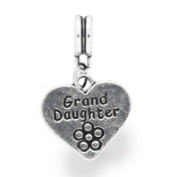 Liberty Charms Silver Plated Grand-Daughter Drop Charm Will Fit Most Charm Bracelets