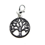 Tree of Life magical tree silver tone enamel charms pendant for locket necklace and bracelet handmade jewellery