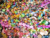 Glass Beads, Metal, Wood DIY Supplies Mix 250g Beraschungspaket New Job Lot