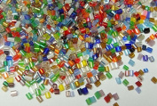 450g 2 mm Cylinder Glass Rocailles Rocc Ailles Beads Mix Bugle Beads with 18 Teeth