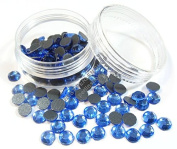 Pack of 150 SS30 6 mm Sapphire Blue Glass Hotfix Rhinestones with Pearls Box DIY 243