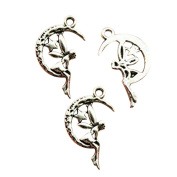 6pcs 25*14mm antique silver angel charms