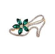 Cosanter Brooch Pin Diamond Rhinestone High Heels Design Scarves Shawl Clip for Girls Women