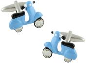 masgemelos – Cufflinks Moto Scooter Blue Cufflinks
