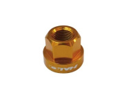 Halo Alloy Axle Nuts, 9mm - 15mm SKT FIT inc Washers in Anadised Gold