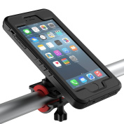 iPhone 7 Plus Bike Mount, iPhone 7 Bike Mount, iPhone 6 Plus / 6S Plus Bike Mount, iPhone 6 / 6S Bike Mount, FugouSell Bicycle Phone Holder [Waterproof][Rugged Armour][Most Secure] Bicycle Handlebars & Motorcycle Holder Cradles for iPhone 6 / 6S / 6 Pl ..
