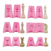 SEPTEMBER International Chess Silicone Soap Mould, 12PCS a Set for Fimo Clay Soap Cake Mould