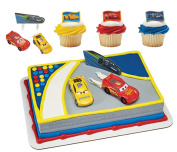 Disney's CARS Licenced Cake Topper by Decopac & 24 Cars Cupcake Ring Combo