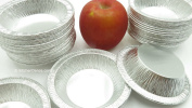 KitchenDance 11cm Deep Mini Pie Pans/Tart Pans/Cake Pans-Disposable #475- Pack of 50