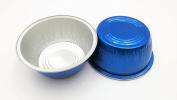 KitchenDance Disposable Aluminium 120ml Ramekins- Colour & Lid Options Pack of 100