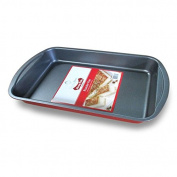 "Diamond Home 13.9"" Roaster Pan, Red Exterior, BW20119"