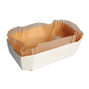 PacknWood 210NBAKE104 Wooden Baking Mould 470ml Capacity, 19cm x 7.9cm x 4.1cm High, Baking Liner Included - Pack of 25