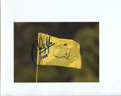 SANDY LYLE HAND SIGNED 5x7 colour PHOTO+COA GOLF MASTERS FLAG - Autographed Pin Flags