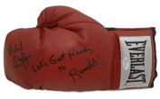 Michael Buffer Autographed Red Boxing Glove Lets Get Ready to Rumble JSA