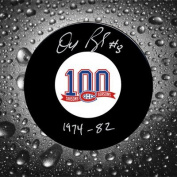 Doug Risebrough Montreal Canadiens 100th Anniversary Autographed Puck