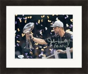 Signed John Harbaugh Photograph - 8x10 Super Bowl Champions JSA Matted & Framed - Autographed NFL Photos