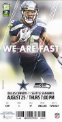 2016 Dallas Cowboys v Seattle Seahawks Ticket 8/25 Tyler Lockett 32439