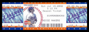 2002 LA Dodgers v Arizona Diamondbacks Full Ticket 6/14/02 27651