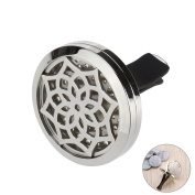 ULTNICE Car Humidifier Aromatherapy Car Essential Oil Diffuser Locket Clip with 10 Washable Felt Refill Pads