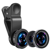 NewNet iPhone 7 Lens, universal 3 in 1 Camera Lens Phone