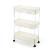 Kitchen Storage Trolleys Slide Out Storage Tower Movable Detachable Shelf With Wheels 3 Tier For Kitchen Bathroom Living Room