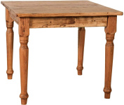 Linden Country Solid Wood Table Natural Finish 90 x 90 x 78 cm